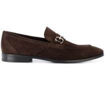 Penny-Loafer mit silberfarbener Spange