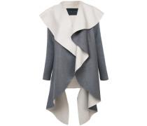 Drapierter Mantel mit wendbarem Design