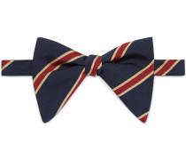 Striped silk cotton bow tie