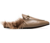 'Princetown' Mules mit Shearling-Futter