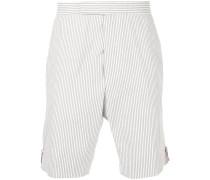 Gestreifte Seersucker-Shorts
