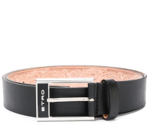 logo embellished belt