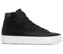 High-Top-Sneakers mit Logo-Prägung
