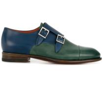 bicolour double monk strap shoes