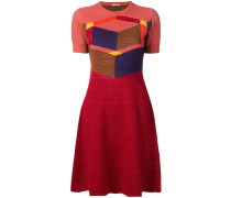 'Cubic' Intarsien-Kleid