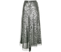 sequinned mid skirt