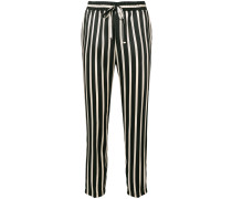 striped print loose trousers