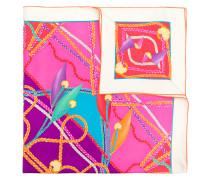 braided trim print scarf