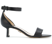 side strap low heel sandals