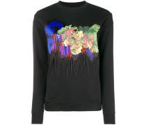 Jersey-Pullover mit Print