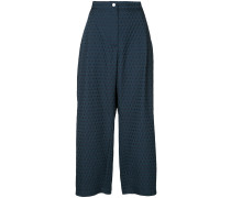 textured jacquard trousers