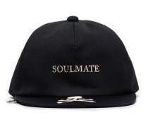 logo embroidered flat baseball cap