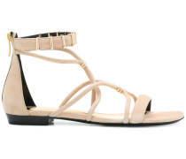 open-toe strapped sandals