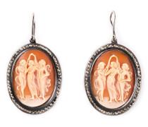 Ohrringe mit Frauenmotiv und Diamanten