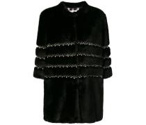 Verzierte Faux-Fur-Jacke