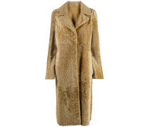 reversible long shearling coat