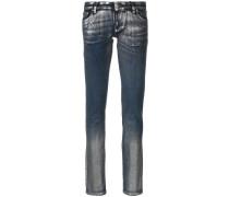 Jeans mit Metallic-Einsatz