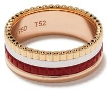 18kt 'Quatre Red Edition' Gelb-, Rot- und Weißgold-Ehering