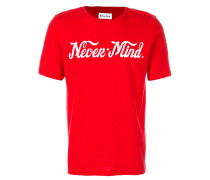 "T-Shirt mit ""Never-Mind""-Print"