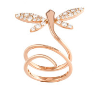 18kt 'Small Dragonfly' Rotgoldring