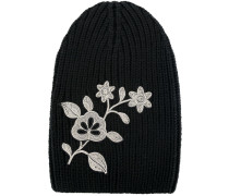embroidered flower beanie