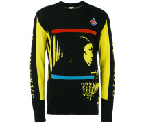 'Technical' Jacquard-Pullover