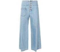 'Retro' Jeans mit weitem Bein