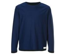 Sweatshirt mit kontrastierendem Saum