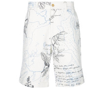 "Chino-Shorts mit ""Explorer""-Print"