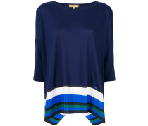 striped hem panel top