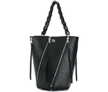 Medium Zip Hex Bucket Bag