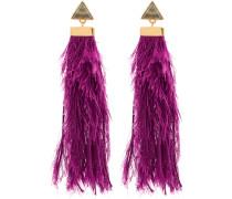 purple rain drop earrings