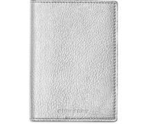 Metallic Leather Passport Holder
