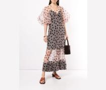 'Rayne' Organza-Kleid mit Puffärmeln