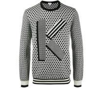 'K' Pullover mit geometrischem Print