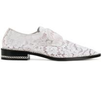 Derby-Schuhe mit Spitzeneinsatz