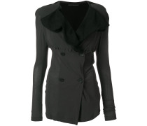 flap lapel stretch jacket