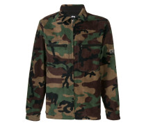 Military-Fleecejacke mit Camouflage-Print