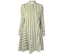 striped flared shirt dress
