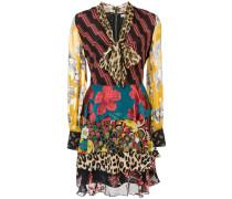 'Dasha' Kleid mit Print-Mix