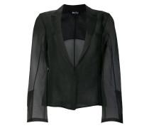 sheer single breasted blazer