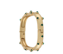 Studed Stone Square Hinged Bracelet