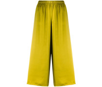 Cropped-Hose aus Satin