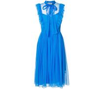 pussybow ruffle dress