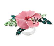 Blumenring mit Kristallen