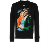 'Kiss' Pullover mit Print