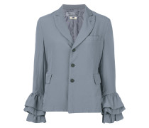 frill-trim fitted blazer
