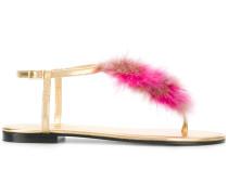 'Antibes' Sandalen mit Federn