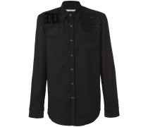 embroidered fitted shirt