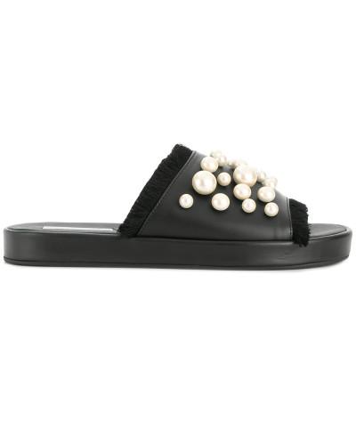 pearl embellished slides